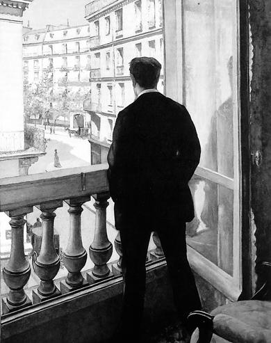 «Молодой человек у окна». Г. Кайботт, 1875