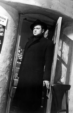 О. Уэллс в фильме «Третий человек», реж. К. Рид, 1949