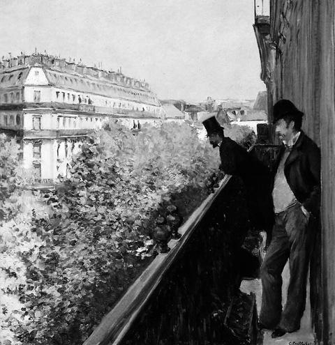 «Балкон на бульваре Осман». Г. Кайботт, 1880