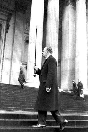 Анри Картье-Брессон. Похороны Черчилля, 1955