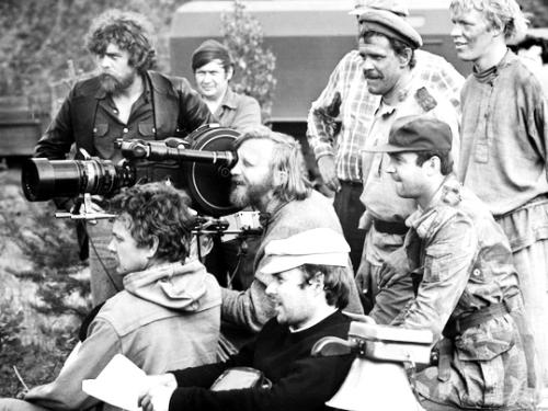 На съёмках фильма «Небывальщина» (1983)