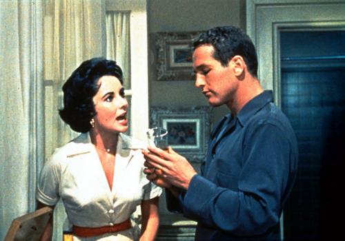 Элизабет Тейлор и Пол Ньюман в фильме Ричарда Брукса «Кошка на раскалённой крыше» (1958)