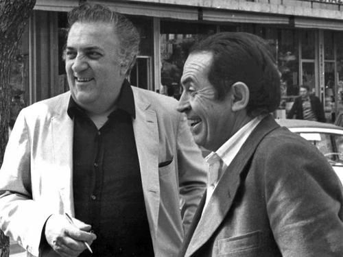 Тонино Гуэрра и Федерико Феллини