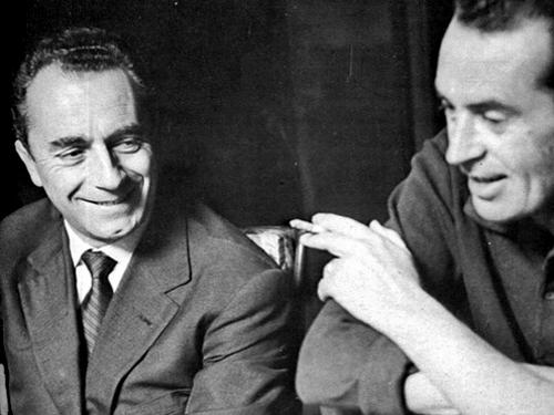 Тонино Гуэрра и Микеланджело Антониони