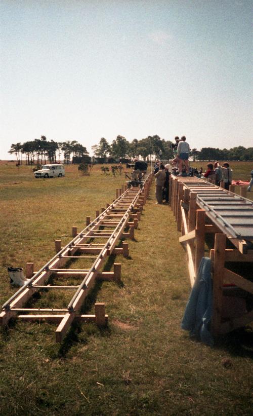 Для пересъемки второго пожара были использованы дополнительные рельсы.