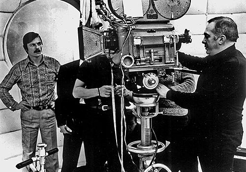 На съемках фильма «Солярис». Реж. Андрей Тарковский, 1972.