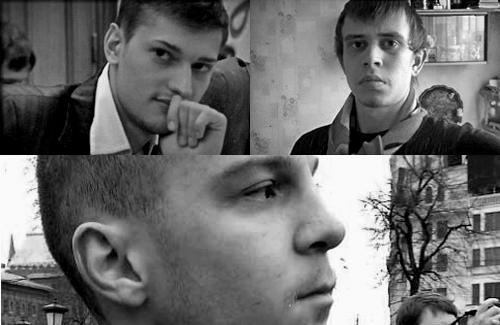 Слева направо: Ярослав Белоусов, Рихард Соболев, Владимир Акименков.