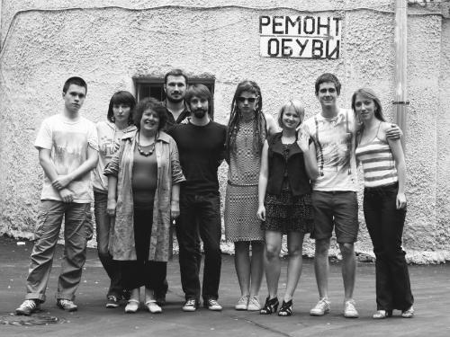 Марина Разбежкина вместе с режиссерами фильма «Зима уходи» (2012). Фото: Надежда Леоньева