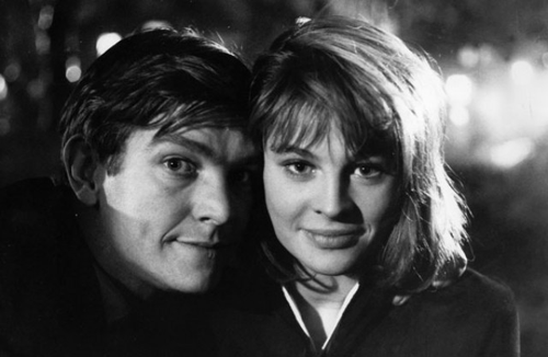 Том Кортни и Джули Кристи на съёмках фильма «Билли-лжец». Реж. Джон Шлезингер, 1963