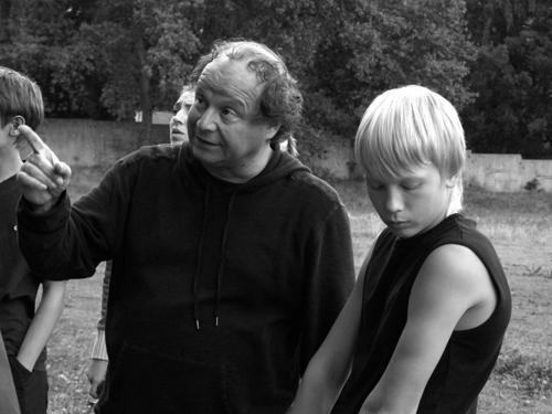 На съемках фильма «Деточки». Реж. Дмитрий Астрахан, 2013