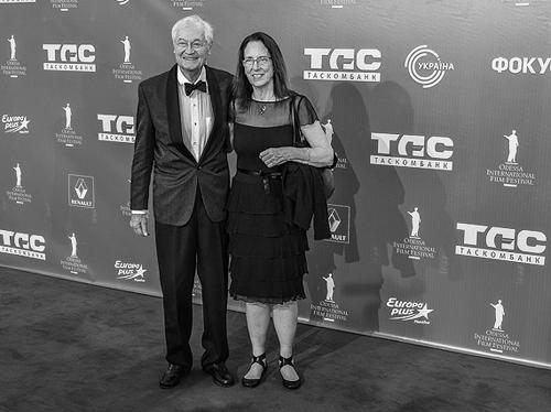 Роджер Корман c супругой на Одесском международном кинофестивале, 2013