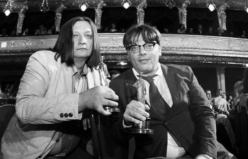 Александр Велединский и Валерий Тодоровский на кинофестивале в Одессе, 2013