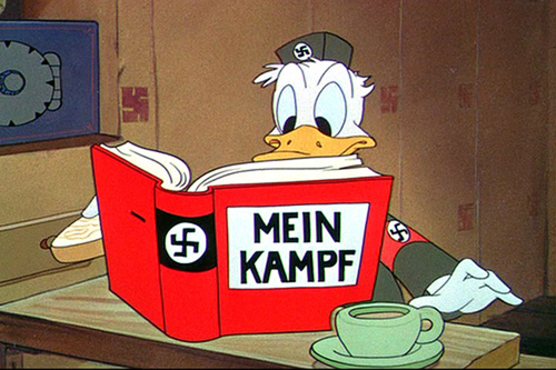 disney goes to war animated propaganda essay Disney to the front mickey mouse, donald duck, and an army of their kindred cartoons join the war effort at home and overseas by david lesjak in this illustration.
