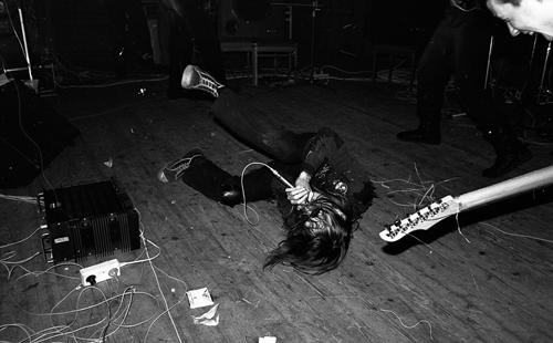 На сцене НЭТИ. Фото Андрея Кудрявцева, Новосибирск, 1989