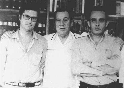 Фернандо Соланас, Хуан Перон и Октавио Хетино, 1971