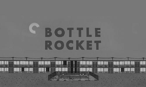 Фрагмент постера «Бутылочной ракеты» (Реж. Уэс Андерсон. 1996)