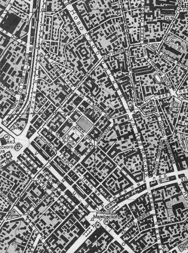 Карта Москвы. 1968