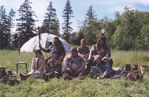 Якутские актеры на съемках фильма «Река»