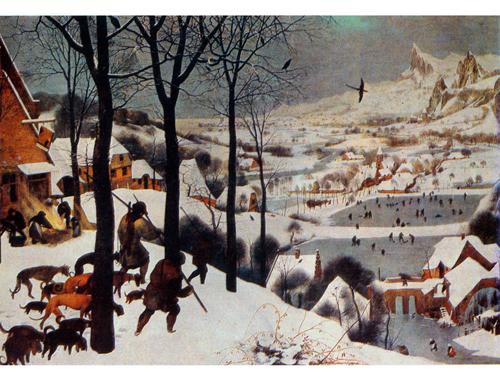 Питер Брейгель Старший. «Охотники на снегу», 1565