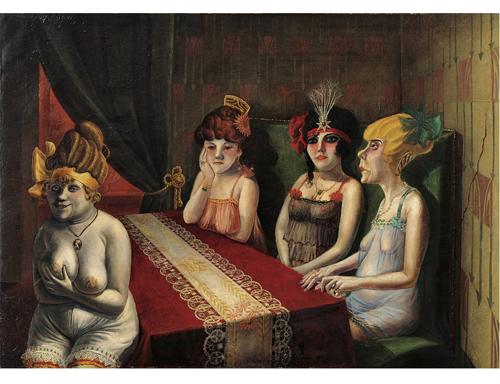 Отто Дикс. «Салон I», 1927