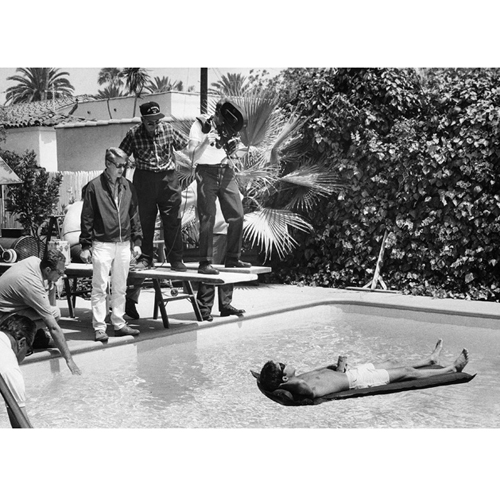 Режиссер Майк Николс и Дастин Хоффман на съемках фильма «Выпускник» (1967)