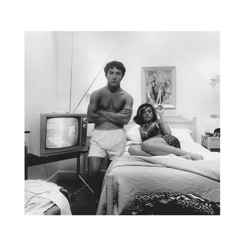 На съемках фильма «Выпускник» (1967)