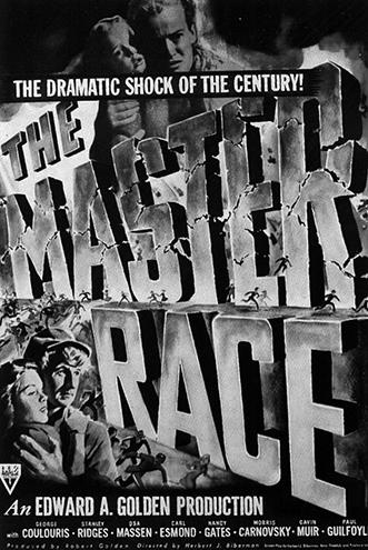 Плакат кфильму «Раса господ» (реж. Херберт Биберман, 1944), подозреваемому впропаганде коммунизма