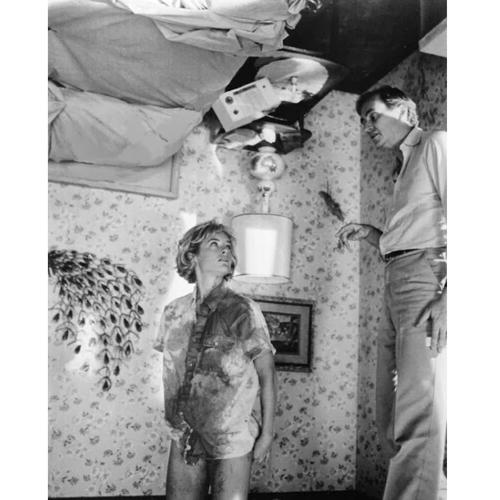 На съёмках фильма «Кошмар на улице Вязов» (1984)