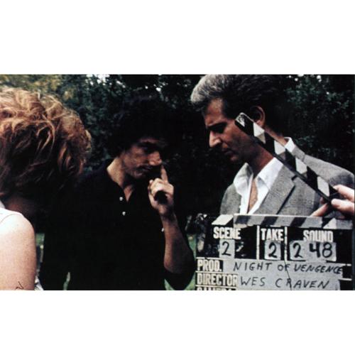 На съёмках фильма «Последний дом слева» (1972)
