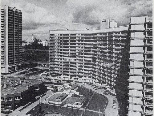 Микрорайон Северное Чертаново, вид с верхних этажей дома №2 корп. 202. Арх. Михаил Посохин, 1975—1982