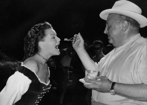 Эрнст Маришка иРоми Шнайдер насъёмках фильма «Сисси» (1955)