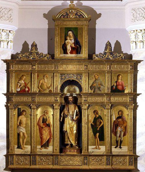 Полиптих из Олеры. Худ. Чима да Конельяно. 1486-1488