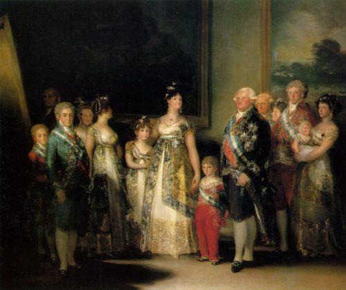 «Королевская семья». Худ. Франциско Гойя. 1801