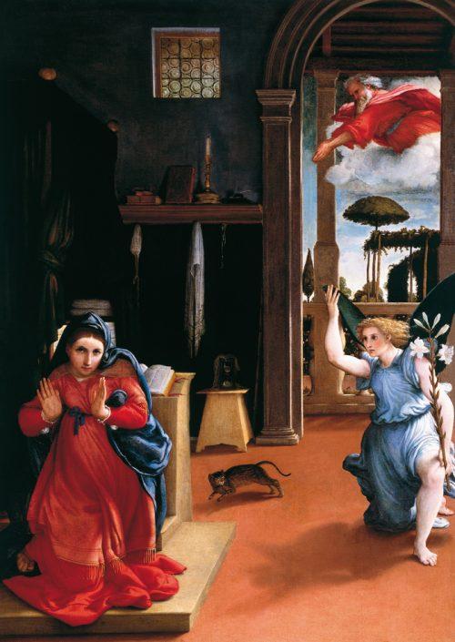 «Благовещение». Худ. Лоренцо Лотто. ок. 1527