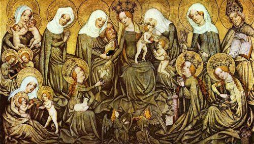 «Святая родня». Мастер Ортенбергского алтаря. 1430