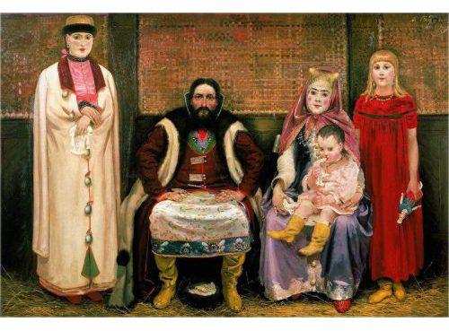 «Семья купца в XVII веке». Худ. Андрей Рябушкин. 1896