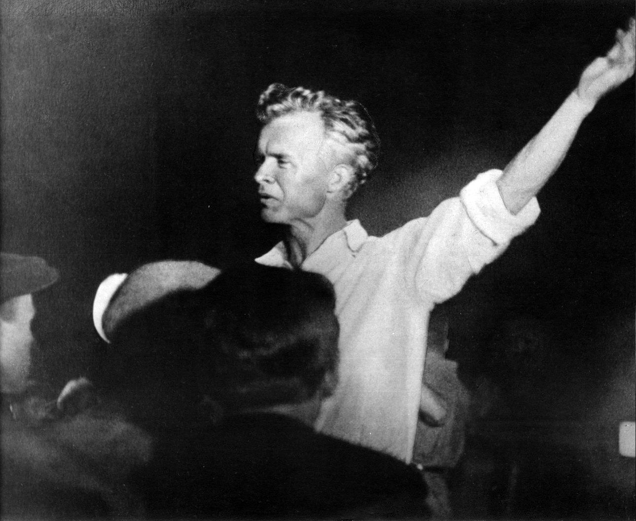 Александр Довженко на съёмках «Ивана». Фото: Музей Национальной киностудии имени Александра Довженко